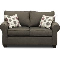Casual Contemporary Slate Gray Loveseat - Seaside
