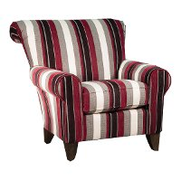 Magenta, Black, and White Striped Chair - Seaside