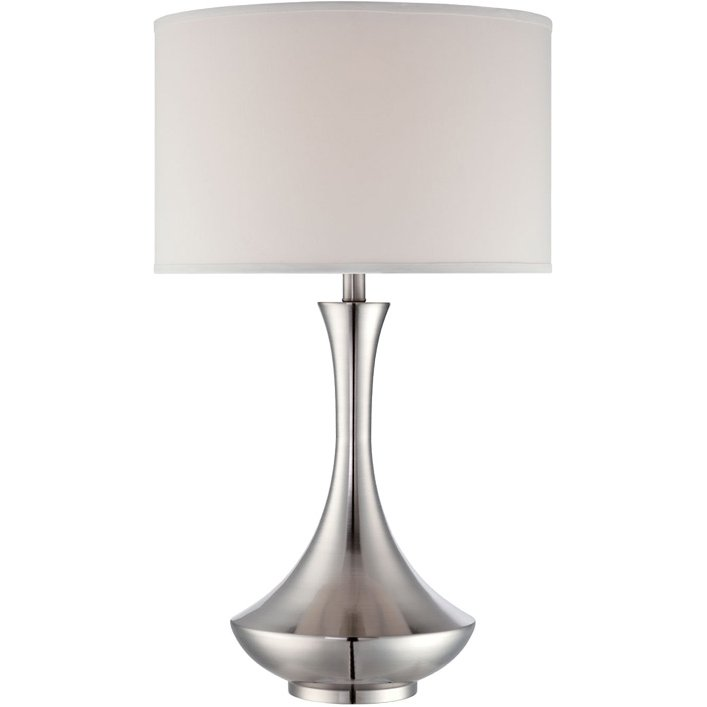 Polished Steel Swoop Table Lamp