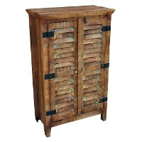 Guru Natural Recycled Wood Tall Shutter Cabinet RC Willey Furniture Store