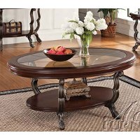 Oval Glass Top Coffee Table - Bravo