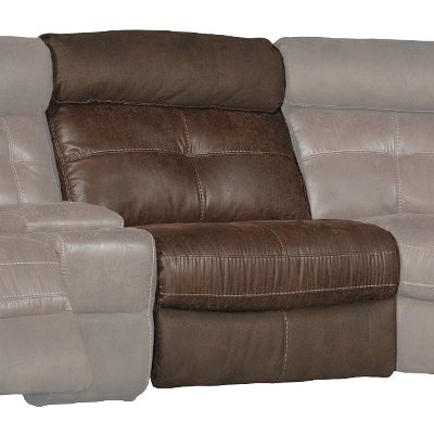 Brown Power Armless Recliner - Denver