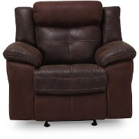 Brown Microfiber Manual Glider Recliner - Denver