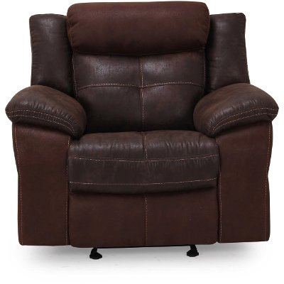 Brown Microfiber Manual Glider Recliner - Denver  sc 1 st  RC Willey : rc willey recliners - islam-shia.org