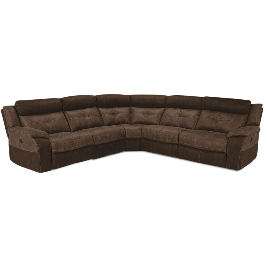 Brown 5-Piece Microfiber 3x Power Reclining Sectional - Denver  sc 1 st  RC Willey : brown microfiber recliner - islam-shia.org