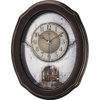 Rustic-Colored Frame Time Cracker Vintage Musical Wall Clock