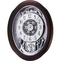 Anthology Espresso Grand Encore Musical Wall Clock