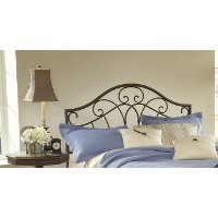 1544HFQR Metallic Brown Full-Queen Metal Headboard - Josephine