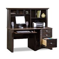... Antique Black Computer Desk With Hutch   Harbor View 2 ...