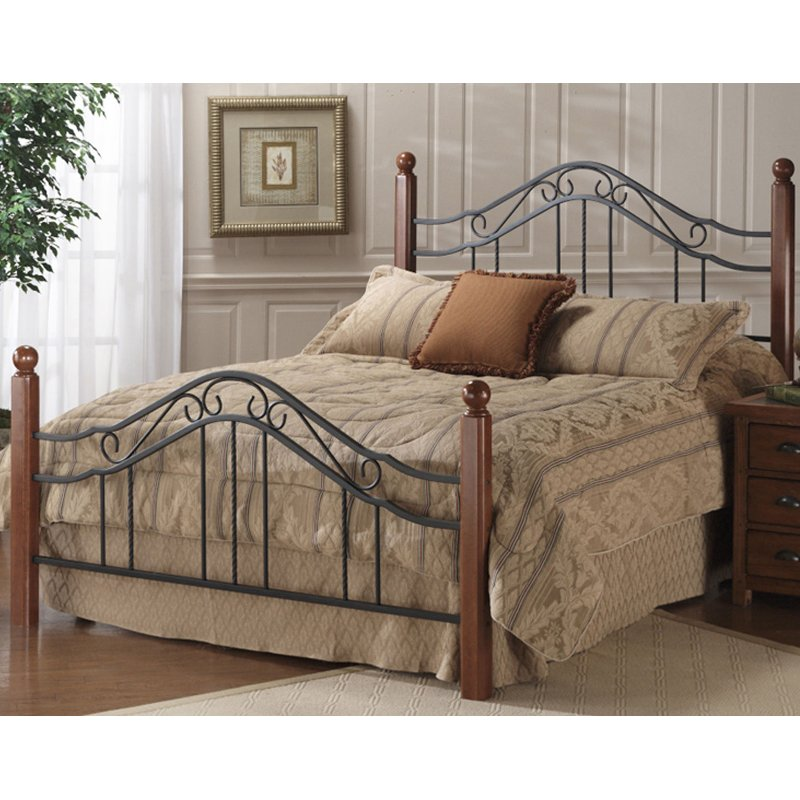 Madison Wood & Iron Queen Metal Bed