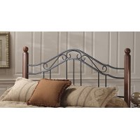 1010HTWR Wood & Iron Twin Headboard - Madison
