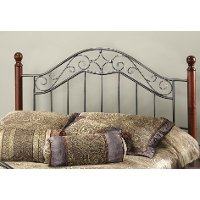 1392HFQR Smoke Silver & Cherry Full-Queen Headboard - Martino