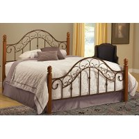 310BFR Brown Copper & Pine Full Size Bed - San Marco