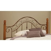 310HFQR Brown Copper & Pine Full-Queen Headboard - San Marco