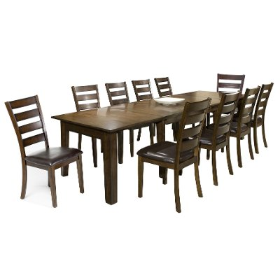 11 piece dining set - kona raisin | rc willey furniture store