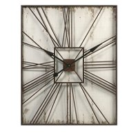 Metal and Cream Wall Clock - Montgomery