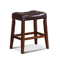 Dark Brown Saddle Counter Height Stool - Verona