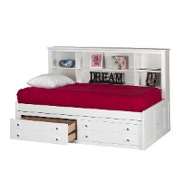 Classic White Side Facing Twin Storage Bed - Bayfront