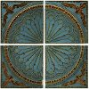 Blue Quarter Wall Panel Set of 4