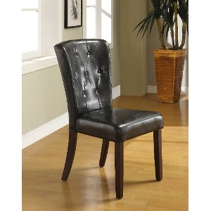 Dark Espresso Upholstered Dining Room Chair