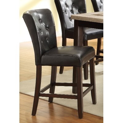 Espresso Brown 24 Inch Counter Height Stool - Montreal