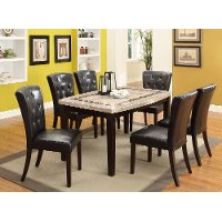 Marble and Espresso 5 Piece Dining Set -  Montreal