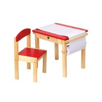Red Art Table and Chair Set - Art Equipment