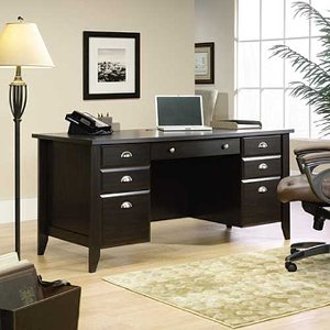 sauder wood executive desk shoal creek