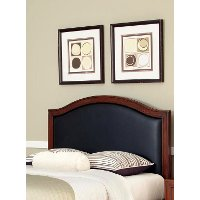 Black Leather Queen Arched Headboard - Duet