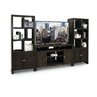 Charcoal Black 3 Piece Modern Entertainment Center - Del Mar