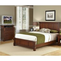 Cherry Queen Bed and Media Chest - The Aspen