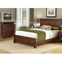 Cherry King Bed & Media Chest - The Aspen
