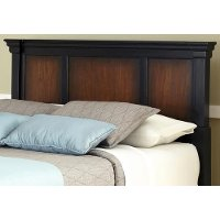 Cherry King/Cali-King Headboard, Media Chest, and Nightstand - Aspen