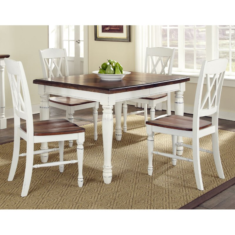 french country kitchen sets monarch white oak 5 dining set 3625