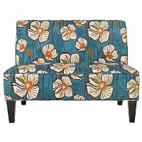 ARI-LX-PFL64ATEAL Angelo Home angelo:Home Teal Floral Upholstered Settee