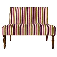 Angelo Home Angelo Home Plum Green Striped Upholstered Settee RC Will