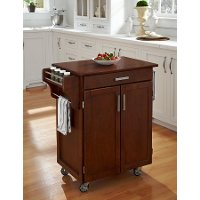Cuisine Cart Cherry Finish with Cherry Top - Create-a-Cart