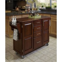 Cherry Finish with Oak Top Kitchen Cart - Create-A-Cart