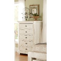 Casual Classic Distressed White Chest of Drawers - Willow
