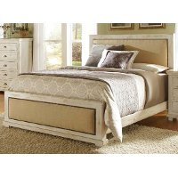 Casual Rustic White Queen Bed - Willow