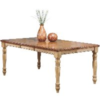 Almond and Wheat Dining Room Table  - Quails Run