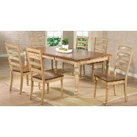 Wheat Transitional 5 Piece Dining Set - Quails Run