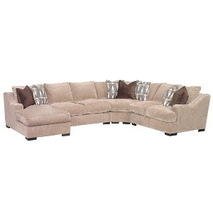 ... Brown Casual Classic 4 Piece Sectional   Monarch ...