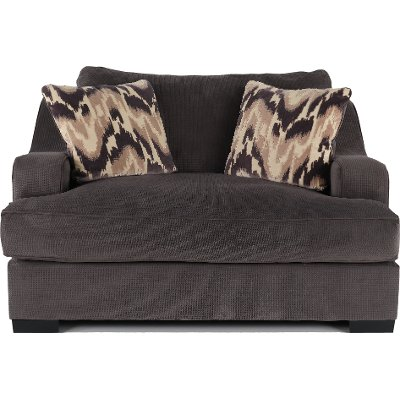 Attractive Casual Modern Charcoal Gray Chair   Spartan