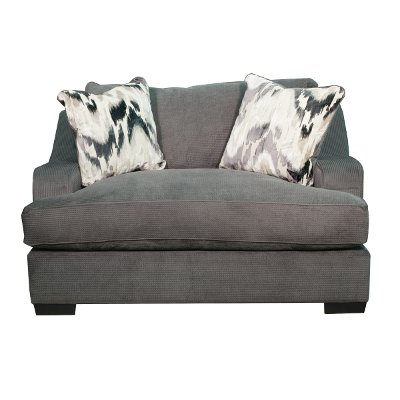 ... Charcoal Gray Casual Modern Chair - Spartan - RC Willey Sells Living Room Chairs & Recliners For Your Den