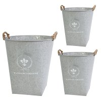 Large Fleur de Lis Planter with Handles
