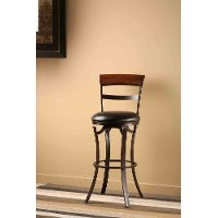 4912-826 Black/Gold 26 Inch Counter Stool - Kennedy