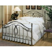 167BFR Antique Pewter Full Metal Bed - Milano