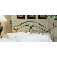 167HFQR Antique Pewter Metal Full/Queen Headboard - Milano