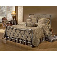 1298BFR Pewter Full Metal Bed - Silverton
